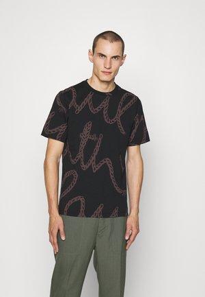 ROPE LOGO - T-shirt imprimé - black