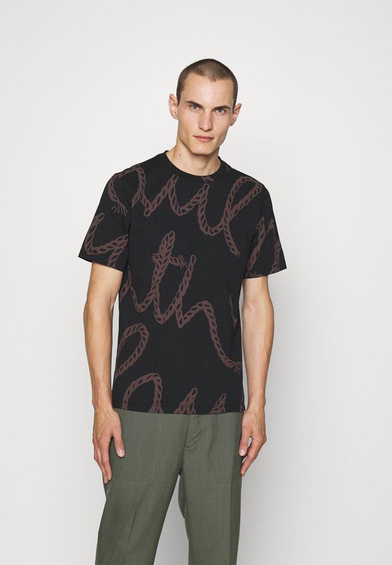 Paul Smith - ROPE LOGO - T-shirt print - black