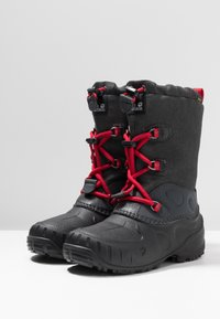 Jack Wolfskin - ICELAND TEXAPORE HIGH - Zimní obuv - black/red - 3