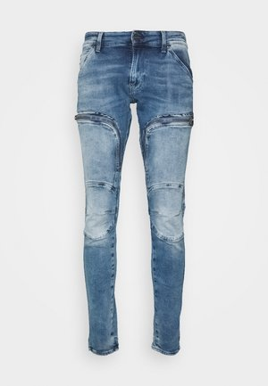 AIR DEFENCE ZIP SKINNY - Jeans Skinny - sun faded azurite