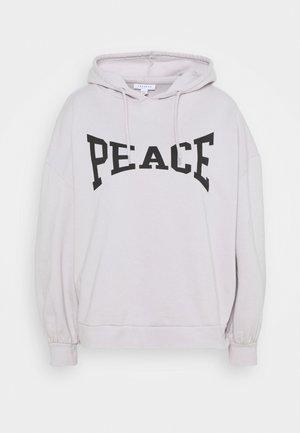 PEACE HOODY - Mikina - grey