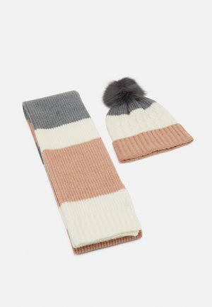 SET - Scarf - grey/pink