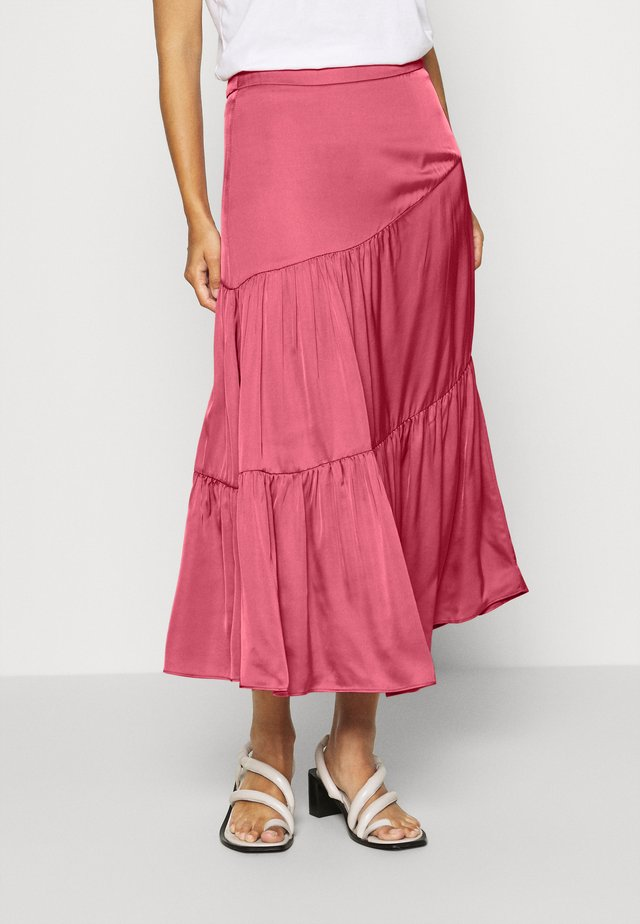 SKIRT - Maxirok - dusty raspberry
