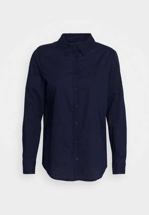 Button-down blouse - navy
