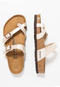 Birkenstock - MAYARI - T-bar sandals - graceful pearl/white - 3