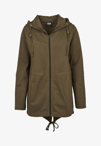 Urban Classics - LADIES TERRY  - Zip-up hoodie - olive - 4