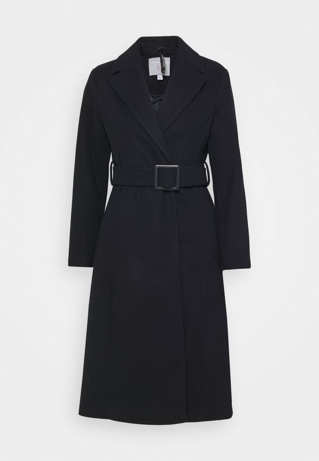 BELTED WRAP COAT - Classic coat - navy