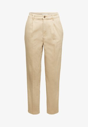 FASHION - Trousers - beige