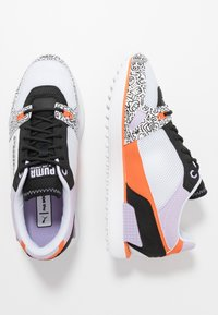 Puma - MILE RIDER - Zapatillas - white/black/dragon fire - 3