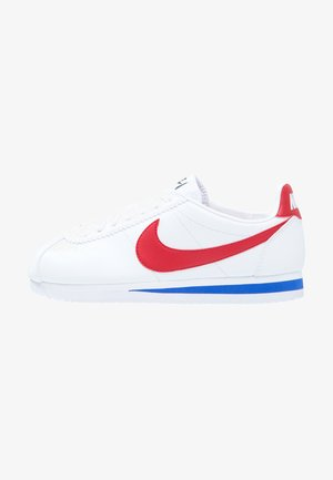CLASSIC CORTEZ LEATHER - Baskets basses - white/varsity red/varsity royal