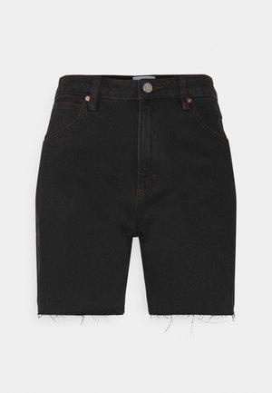 A CLAUDIA CUT OFF - Jeansshort - black box