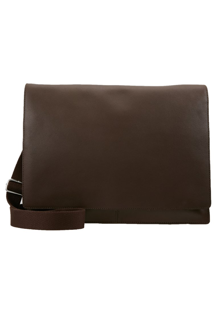 Pier One LEATHER Skulderveske dark brown Zalando.no