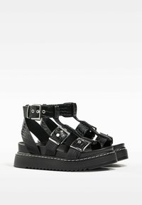 Bershka - Platform sandals - black - 2