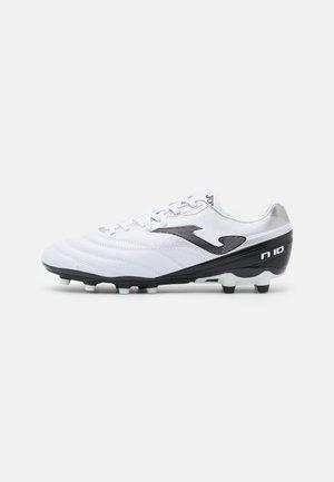 N10 - Kopačky lisovky - white/black