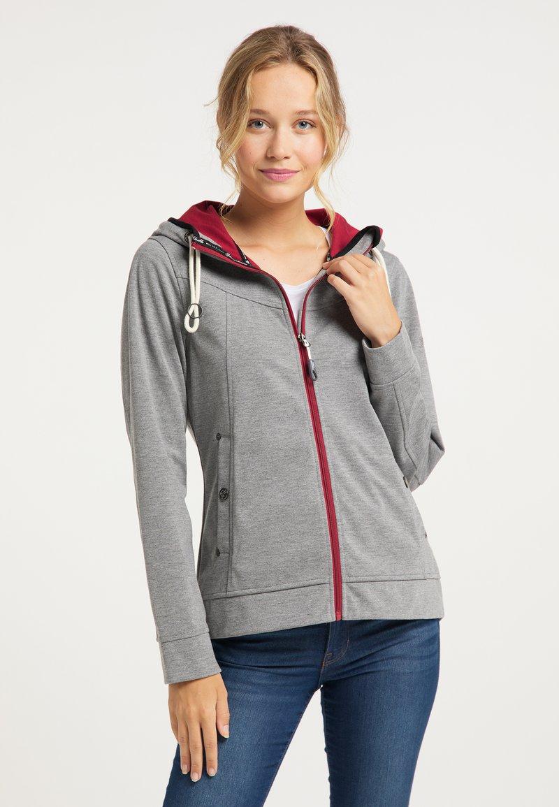 Schmuddelwedda - Zip-up hoodie - grau melange