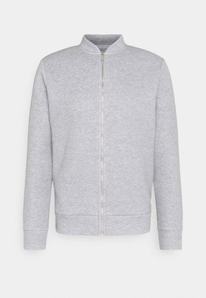 JJSTRUCTURE ZIP BASEBALL NECK - Sweatjacke - light grey melange