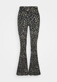 Topshop - CRINKLE FLARE - Trousers - khaki - 0