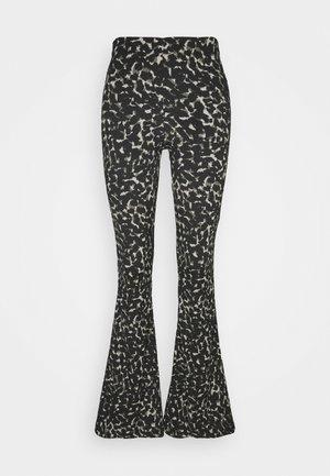 CRINKLE FLARE - Trousers - khaki