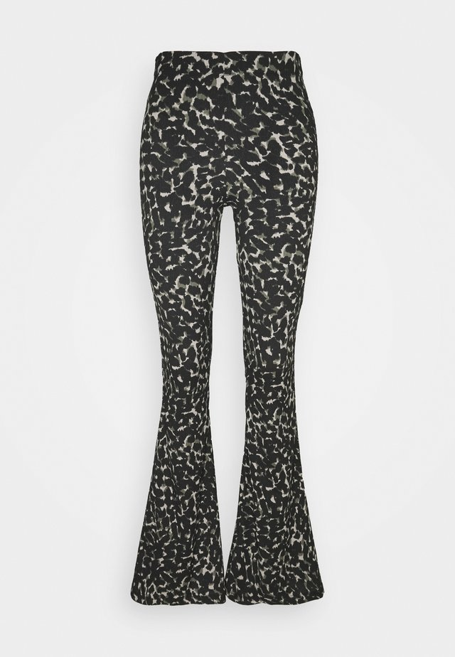 CRINKLE FLARE - Pantalon classique - khaki