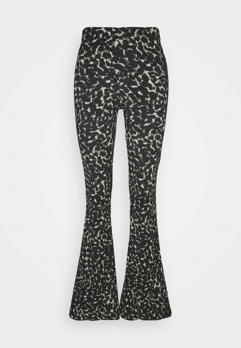Topshop - CRINKLE FLARE - Trousers - khaki