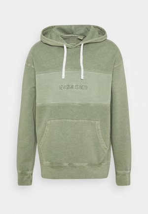 RELAXED FIT NOVELTY HOOD UNISEX - Jersey con capucha - light green