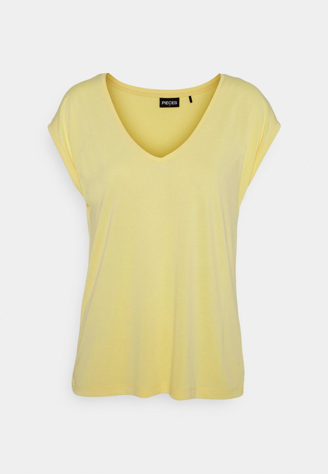 PCKAMALA TEE - T-shirt basic - pale banana