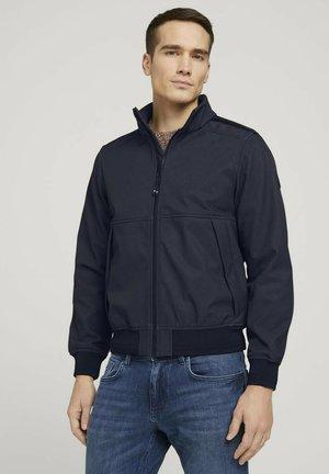 MIT STEHKRAGEN - Outdoor jacket - black twill structure