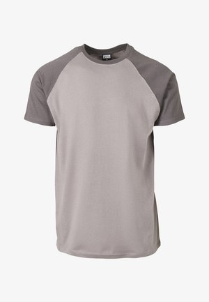 RAGLAN CONTRAST  - Print T-shirt - grey/khaki