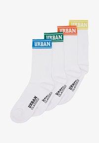 Urban Classics - SHORT SPORTY LOGO SOCKS COLOURED CUFF 4 PACK - Sukat - multicolor - 1