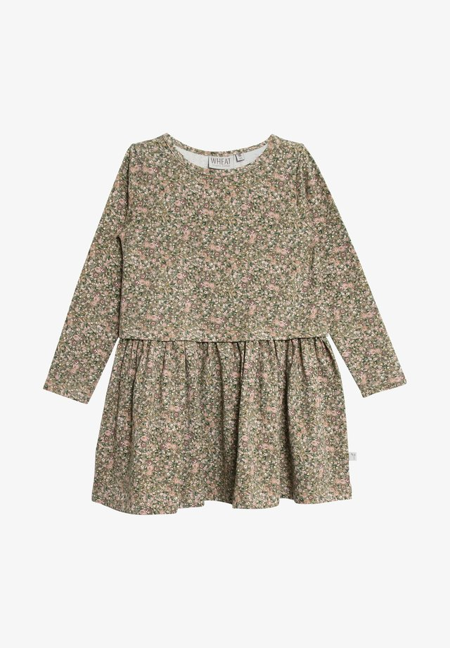 ASTRID - Day dress - green flowers
