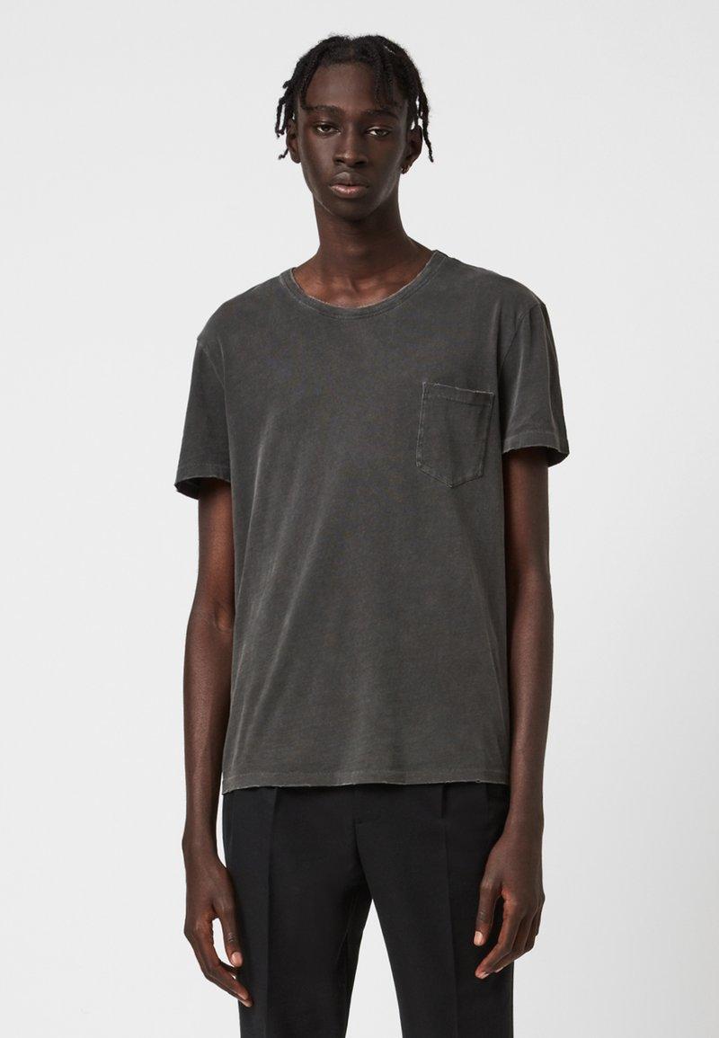 AllSaints - PILOT - Basic T-shirt - black