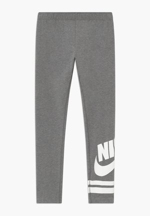 FAVORITE  - Leggings - Trousers - carbon heather/white