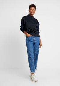 G-Star - PLEAT LOOSE COLLAR - Sweatshirts - mazarine blue - 1