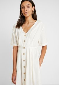 Miss Selfridge - PINTUCK BUTTON THROUGH MIDI DRESS - Robe chemise - ivory - 4