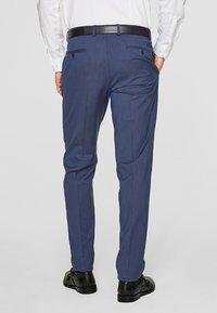 s.Oliver BLACK LABEL - CESANO  - Suit trousers - dark blue - 2