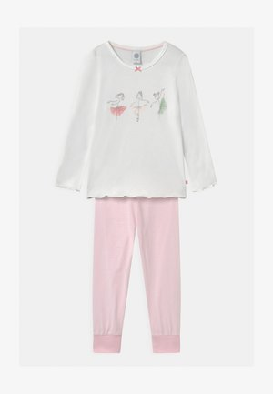 MINI LONG PRINT - Pyjama set - white pebble