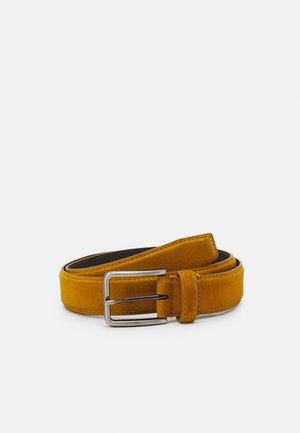 LEATHER UNISEX - Pasek - mustard yellow