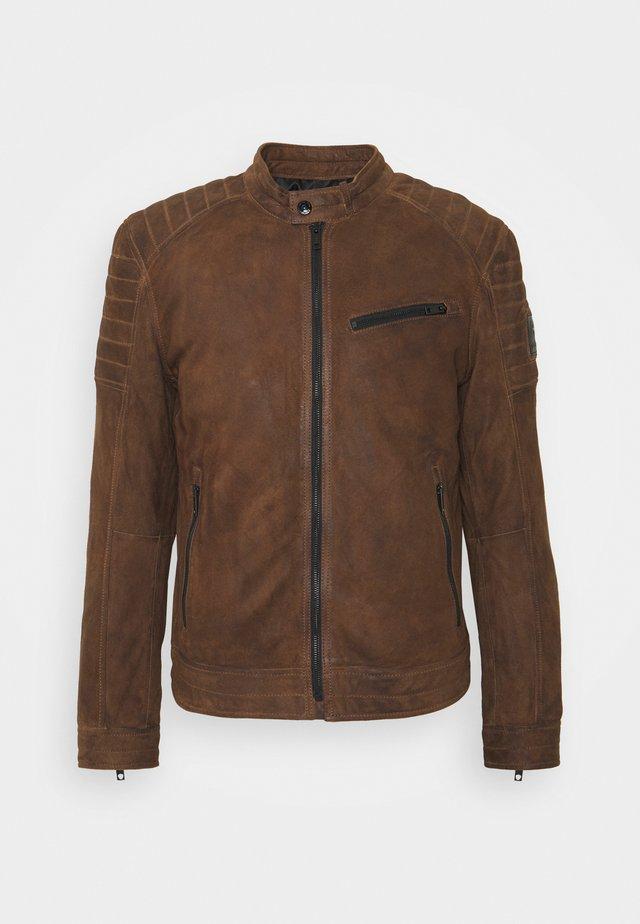S.C.ROVIO - Leather jacket - wet sand