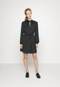 Claudie Pierlot - RUFFLE - Day dress - noir - 1