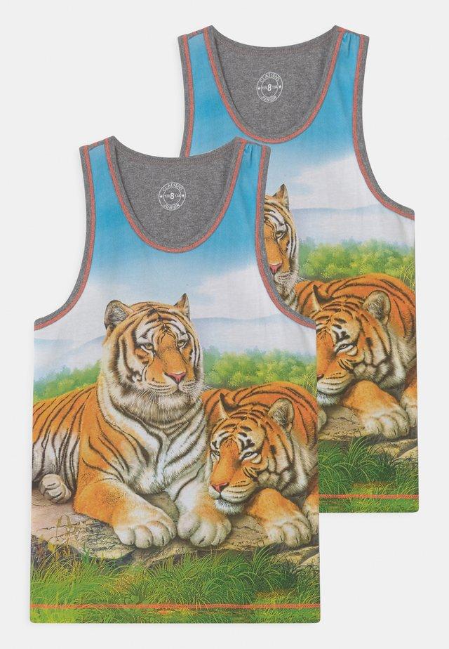BOYS SINGLET TIGER 2 PACK - Undershirt - orange