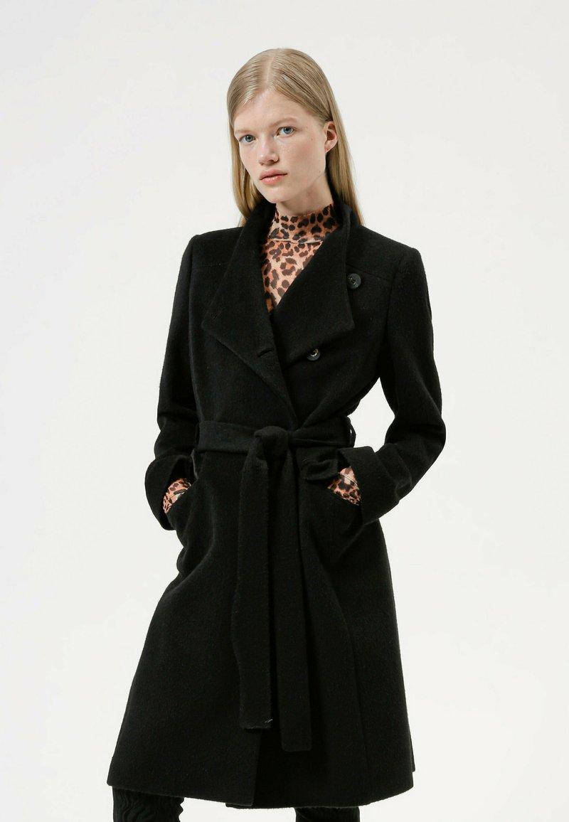 HUGO - MILEA - Classic coat - black