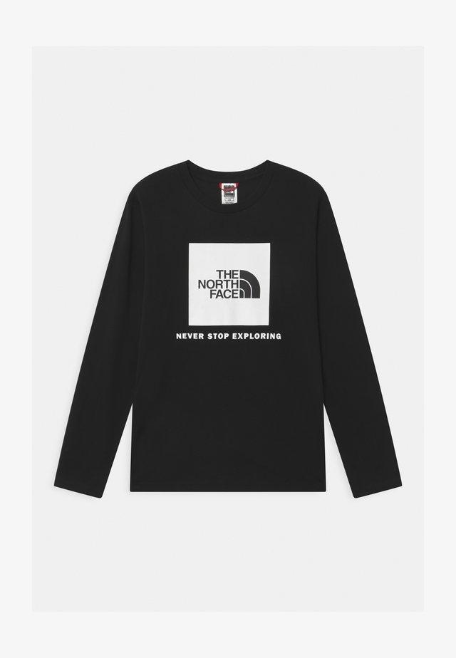 BOX LOGO UNISEX - T-shirt à manches longues - black