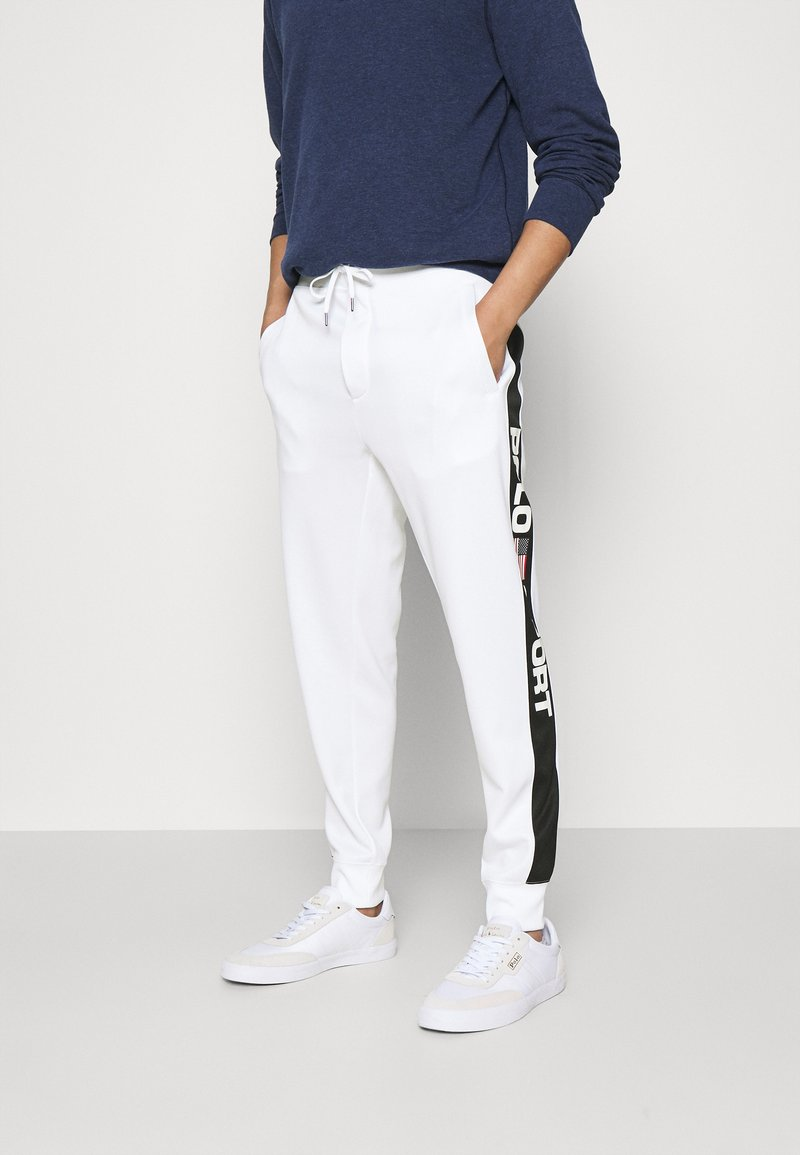 Polo Sport Ralph Lauren - TRACKPANT ATHLETIC - Tracksuit bottoms - white