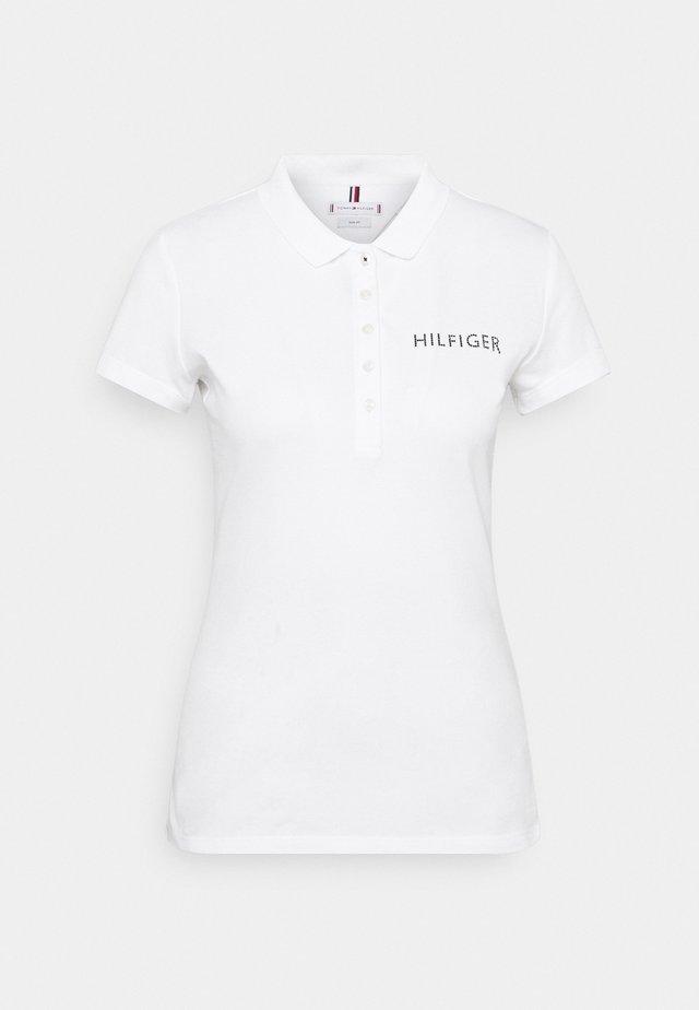 SLIM CRYSTAL - Polo shirt - white