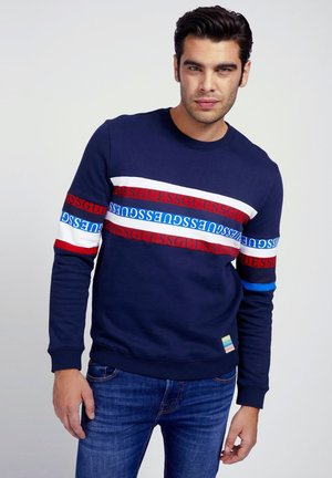 LOGO STREIFEN - Sweatshirt - blau
