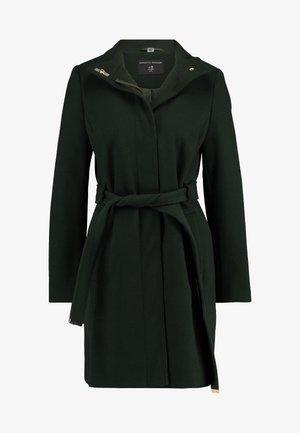 LONG FUNNEL BELTED WRAP - Zimní kabát - khaki