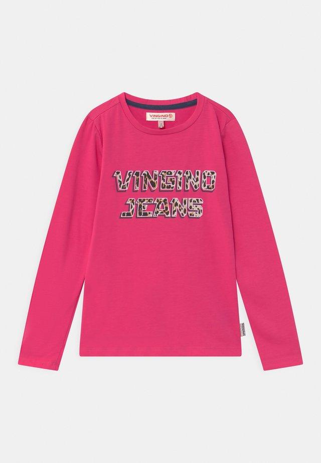 JESNEY - Top sdlouhým rukávem - dark neon pink