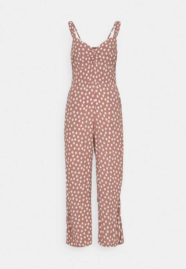 CHASE CINCH FRONT - Jumpsuit - dark red