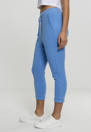 LADIES OPEN EDGE TERRY TURN UP PANTS - Tracksuit bottoms - horizonblue