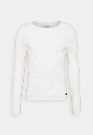 ONSLEXON LIFE STRUCTURE CREW NECK - Trui - star white